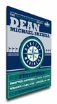 Seattle Mariners Personalized Canvas Birth Announcement - Baby Gift