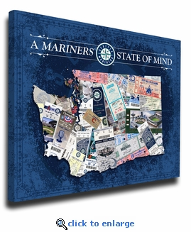 Seattle Mariners State of Mind Canvas Print - Washington