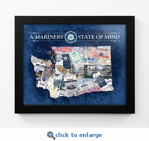 Seattle Mariners State of Mind Framed Print - Washington