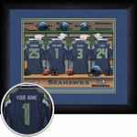 Seattle Seahawks Personalized Locker Room Print
