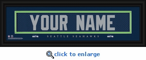 Seattle Seahawks Personalized Stitched Jersey Nameplate Framed Print