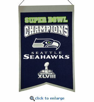 Seattle Seahawks Super Bowl Champions Wool Banner (14 x 22)