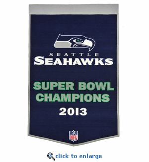 Seattle Seahawks Super Bowl Dynasty Wool Banner (24 x 36)