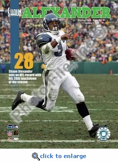 Shaun Alexander 28th Touchdown Of The Season 1/1/06 NFL Record 8x10 Photo