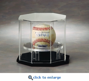 Single Baseball Octagon Acrylic Display Case