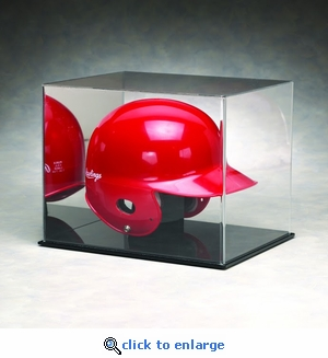 Single Batting Helmet Acrylic Display Case with Mirrored Back