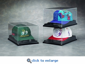 Single Hat Acrylic Display Case with Formed Base