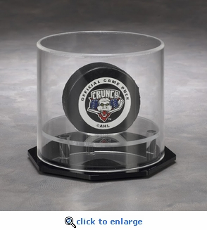 Single Hockey Puck Circular Acrylic Display Case