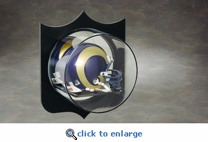 Single Football Mini Helmet Acrylic Display Case with Shield Silhouette Back