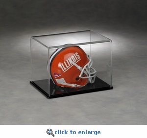 Single Football Mini-Helmet Rectangular Acrylic Display Case