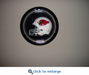 Single Football Mini Helmet Round Dome Acrylic Display Case with Formed Base