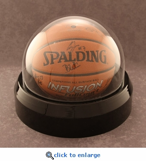 Single Regulation Size Basketball Volleyball or Soccer Ball Round Dome Acrylic Display Case with Formed Base