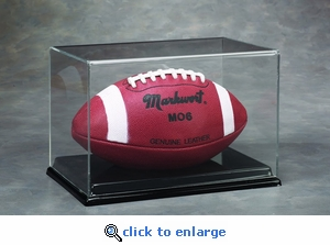 Single Regulation Size Football Rectangular Acrylic Display Case with Formed Base