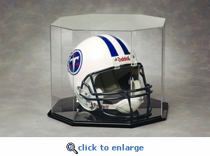 Single Regulation Size Helmet Octagon Acrylic Display Case