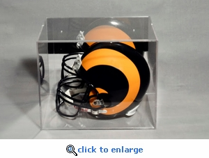 Single Regulation Size Helmet or Football Rectangular Acrylic Display Case with Mirrored Back