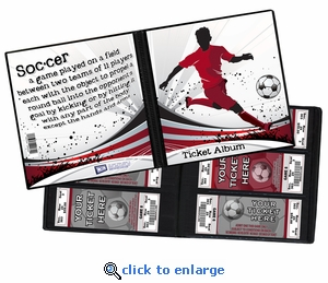 Soccer Ticket Album - A Photo Album Designed to Hold Ticket Stubs