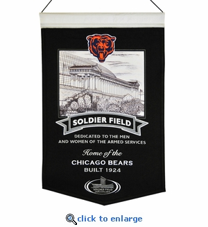 Soldier Field Wool Banner (20 x 15) - Chicago Bears