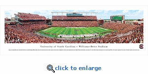 South Carolina Gamecocks Football - 50 Yard Line - Panoramic Photo (13.5 x 40)