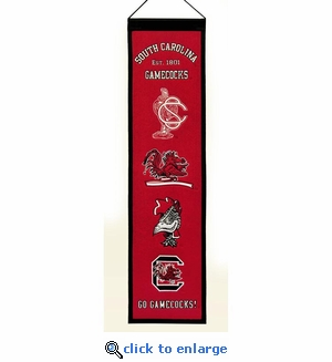 South Carolina Gamecocks Heritage Wool Banner (8 x 32)
