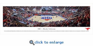Southern Methodist University Mustangs Basketball - Panoramic Photo (13.5 x 40)