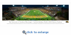 Southern Mississippi Golden Eagles Football - Panoramic Photo (13.5 x 40)