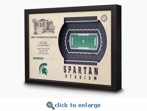 Spartan Stadium 3-D Wall Art - Michigan State Spartans Football
