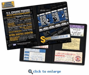 Sports Ticket Album - A Photo Album Designed to Hold Ticket Stubs