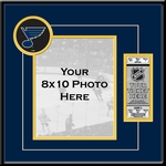 St Louis Blues 8x10 Photo Ticket Frame