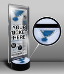 St Louis Blues Hockey Puck Ticket Display Stand