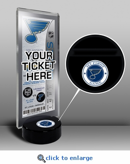 St Louis Blues My First Game Hockey Puck Ticket Stand