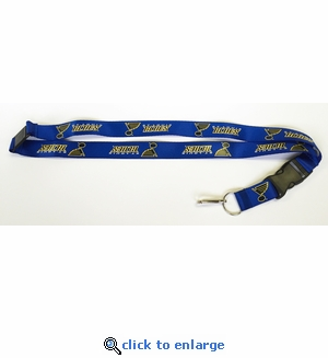 St Louis Blues NHL Lanyard Key Chain with Ticket Holder