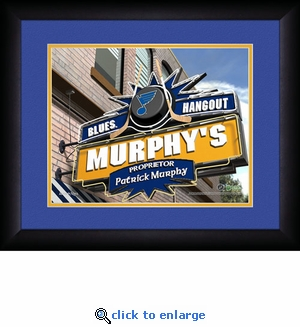 St Louis Blues Personalized Sports Room / Pub Print