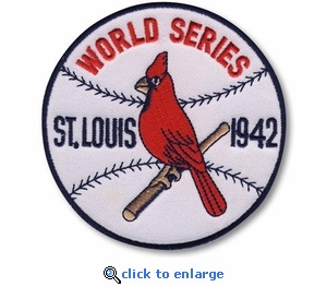 St Louis Cardinals 1942 World Series Champions Commemorative Embroidered Patch