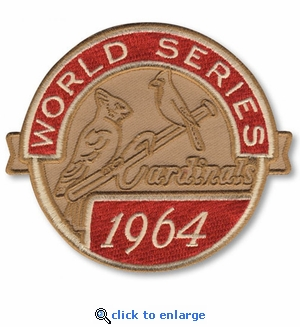 St Louis Cardinals 1964 World Series Champions Commemorative Embroidered Patch