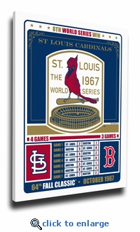 St Louis Cardinals 1967 World Series Champions Canvas Print