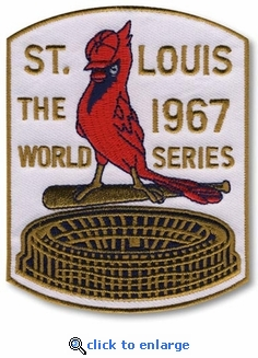 St Louis Cardinals 1967 World Series Champions Commemorative Embroidered Patch