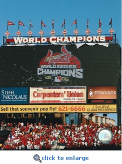 St Louis Cardinals 2007 Opening Day Banner Raising Ceremony Busch Stadium 8x10 Photo