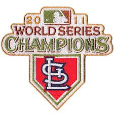 St Louis Cardinals 2011 World Series Champions Commemorative Embroidered Patch