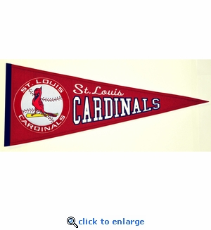 St Louis Cardinals Cooperstown Wool Pennant (13 x 32)
