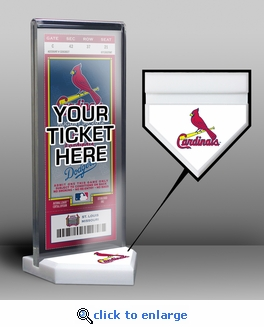 St Louis Cardinals Home Plate Ticket Display Stand