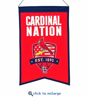 St Louis Cardinals Nations Wool Banner (14 x 22)