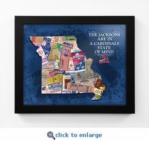 St Louis Cardinals Personalized State of Mind Framed Print - Missouri