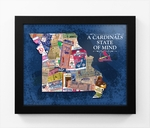 St Louis Cardinals State of Mind Framed Print - Missouri