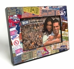 St Louis Cardinals Ticket Collage Black Wood Edge 4x6 inch Picture Frame