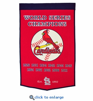 St Louis Cardinals World Series Dynasty Wool Banner (24 x 36)