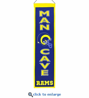 St Louis Rams Man Cave Wool Banner (8 x 32)