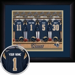 St Louis Rams Personalized Locker Room Print