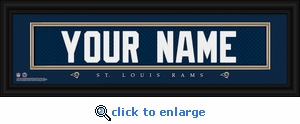St Louis Rams Personalized Stitched Jersey Nameplate Framed Print