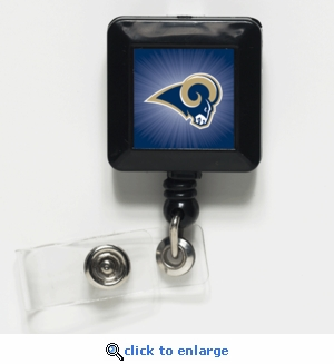 St Louis Rams Retractable Ticket Badge Holder