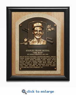 Stan Musial Baseball Hall of Fame Plaque Framed Print - St Louis Cardinals